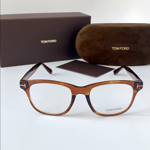 6e382fe1b7d8 Tom Ford Eyeglasses Square FT5399-050 Havana